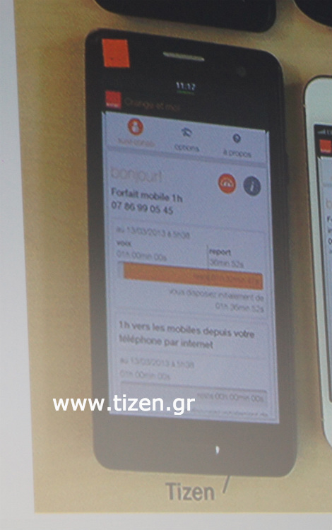 Orange Tizen smartphone