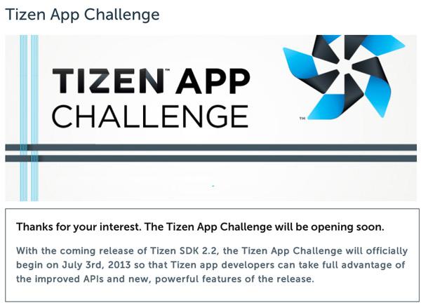 Tizen App Challenge delay