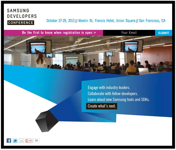 Samsung Developers Conference 2013