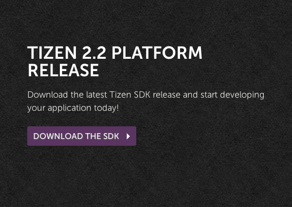 Tizen 2.2 SDK available