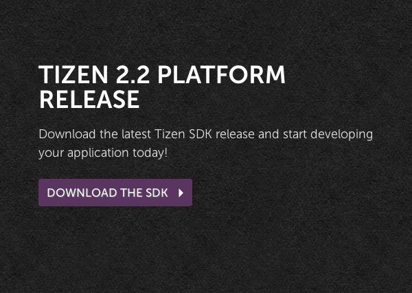 Tizen 2.2 SDK available