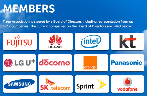 Tizen Association members LG U+