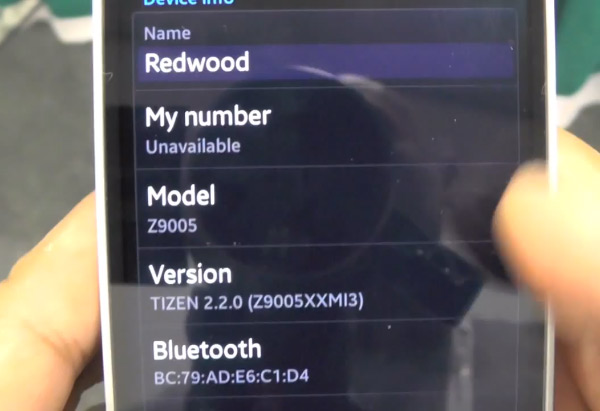 Samsung Z9005 Redwood Tizen