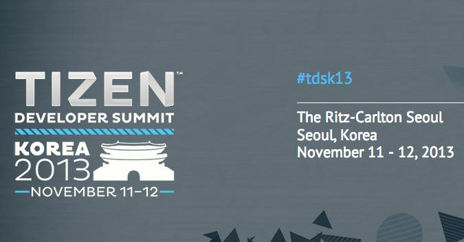 Tizen Developer Summit 2013 Korea