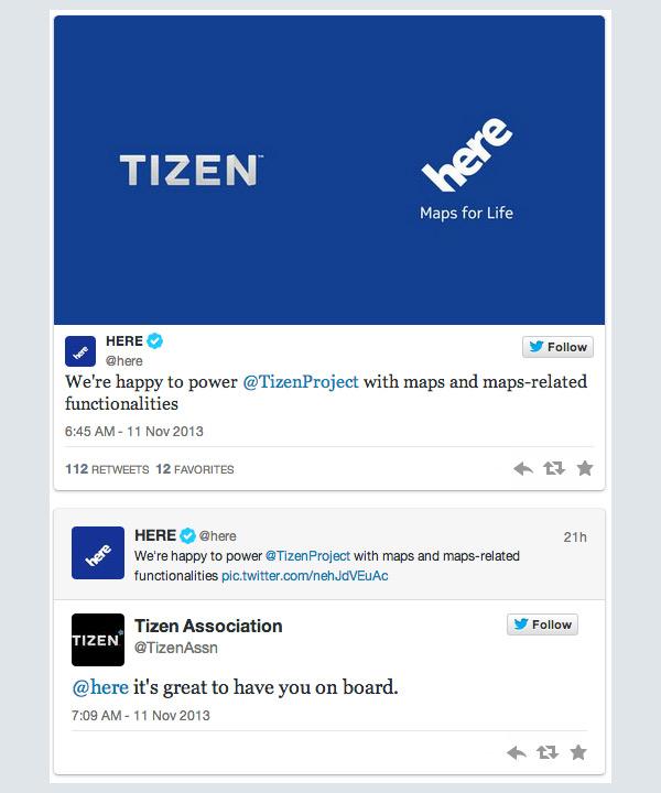 Tizen Nokia Here maps