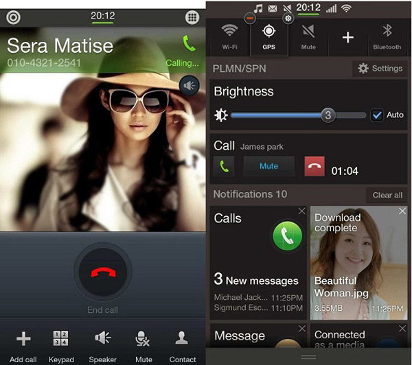 Tizen 2.1 screenshots