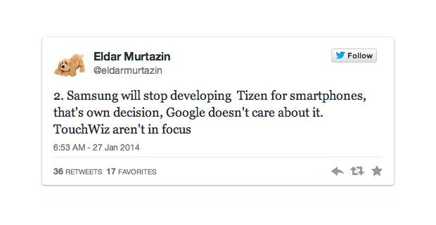 Eldar Murtazin tweet tizen stops
